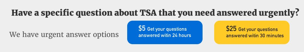 Get TSA questions answered quickly